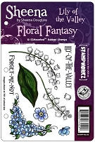 Crafter's Companion - Sheena Cling EZMount Stamp - Floral Fantasy by Sheena Douglas - Lily of the Valley