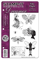 Stamp-It - EZ Mount Rubber Stamp - Australia Dreamer Take Flight