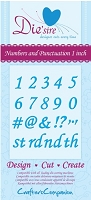Crafter's Companion - Die'sire Decorative Dies - Numbers and Punctuation 1 Inch