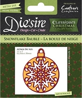 Crafter's Companion - Classique Christmas Dies - Snowflake Bauble