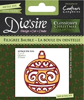 Crafter's Companion - Classique Christmas Dies - Filigree Bauble