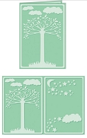 Craftwell E-Bosser - A4 Size Embossing Folder - Natural Splendor