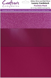 Crafter's Companion - Luxury Cardstock Pack - Fuchsia