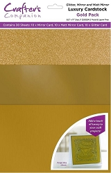 Crafter's Companion - Luxury Cardstock Pack - Gold