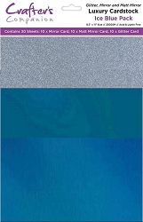 Crafter's Companion - Luxury Cardstock Pack - Ice Blue