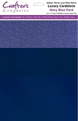 Crafter's Companion - Luxury Cardstock Pack - Navy