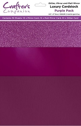Crafter's Companion - Luxury Cardstock Pack - Purple
