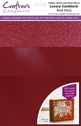 Crafter's Companion - Luxury Cardstock Pack - Red