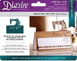 Crafter's Companion - Edge'Ables Metal Die - Sew in Love