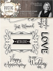 Crafter's Companion - Rustic Wedding Collection by Sara Davies - Always & Forever Clear Stamps