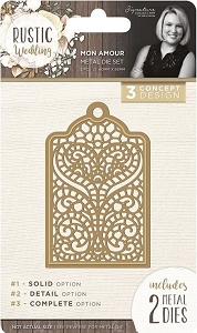 Crafter's Companion - Rustic Wedding Collection by Sara Davies - Mon Amour Die