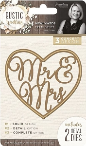 Crafter's Companion - Rustic Wedding Collection by Sara Davies - Newyweds Die