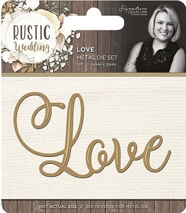 Crafter's Companion - Rustic Wedding Collection by Sara Davies - Love Die