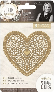 Crafter's Companion - Rustic Wedding Collection by Sara Davies - Delicate Heart Die