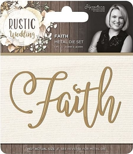 Crafter's Companion - Rustic Wedding Collection by Sara Davies - Faith Die
