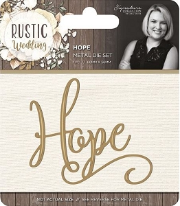 Crafter's Companion - Rustic Wedding Collection by Sara Davies - Hope Die