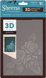 Crafter's Companion - 3D Embossing Folder by Sheena - Tangled Rose