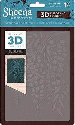 Crafter's Companion - 3D Embossing Folder by Sheena - Wisteria Wall