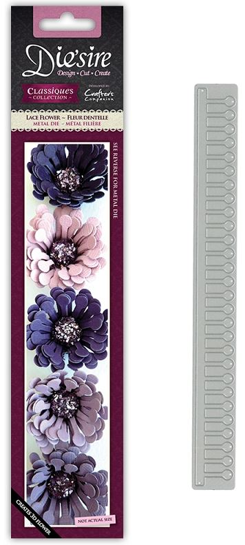 New Die/'sire Classiques Metal Cutting Dies Quiling Flower Carnation Duo