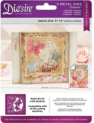 Crafter's Companion - Die'Sire Create-a-Card die - Flutterby