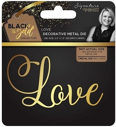Crafter's Companion - Black & Gold Collection by Sara Davies - Love metal die