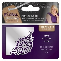 Crafter's Companion - Floral Fantasy Collection by Sara Davies - Petal Flourish Metal Die