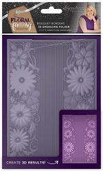 Crafter's Companion - Floral Fantasy Collection by Sara Davies - 3D Bouquet Borders 3D Embossing Folder