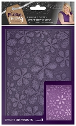 Crafter's Companion - Floral Fantasy Collection by Sara Davies - 3D Falling Flowers 3D Embossing Folder