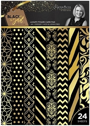Crafter's Companion - Black & Gold Collection by Sara Davies - A4 Luxury Foiled Card Pad