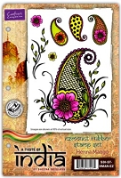 Crafters Companion - Sheena EZ Mount Rubber Cling Stamp Set - A Taste of India - Henna Mango