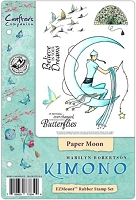 Crafter's Companion - Kimono Collection Cling EZMount Stamp - Paper Moon