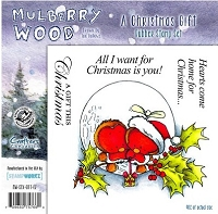 Mulberry Wood - EZ Mount Rubber Stamp Set - A Christmas Gift