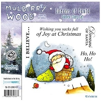 Mulberry Wood - EZ Mount Rubber Stamp Set - Dreams of Santa