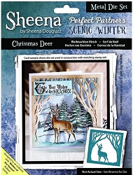 Crafter's Companion - Metal Die - Scenic Winter Christmas Deer