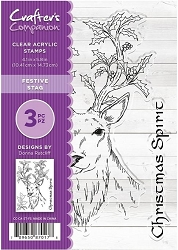 Crafter's Companion - Clear Stamp Set (4x6) - Festive Stag