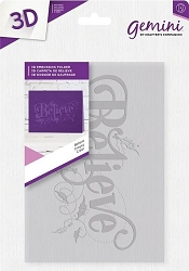 Crafter's Companion - 3D Embossing Folder Believe