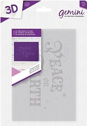 Crafter's Companion - 3D Embossing Folder Peace on Earth