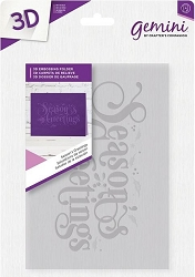 Crafter's Companion - 3D Embossing Folder Season's Greetings