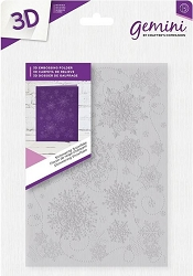 Crafter's Companion - 3D Embossing Folder Shimmering Snowflake