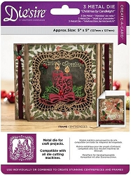 Crafter's Companion - Metal Die - Die'Sire Create-A-Card Christmas by Candlelight