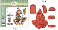 Paintbox Poppets  by Christine Haworth - Cling Stamp - Baby's 1st Christmas