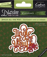 Crafter's Companion - Die'sire Classiques Christmas Words Only Dies - Jingle All The Way