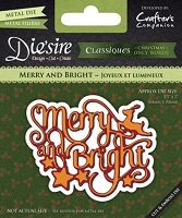 Crafter's Companion - Die'sire Classiques Christmas Words Only Dies - Merry and Bright :)