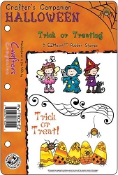 Crafter's Companion - EZMount Stamps - Halloween Trick Or Treating