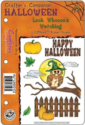 Crafter's Companion - EZMount Stamps - Halloween Look Whoooo's Watching