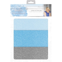 Crafter's Companion - Winter Wonderland Collection by Sara Davies - Luxury Cardstock Pack:  Glitter Card