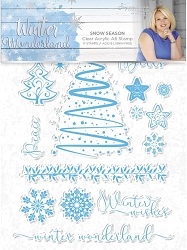 Crafter's Companion - Winter Wonderland Collection by Sara Davies - Snow Season Clear Stamps