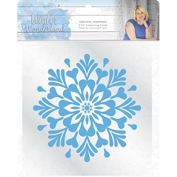 Crafter's Companion - Winter Wonderland Collection by Sara Davies - 6x6 Graceful Snowflake Embossing Folder