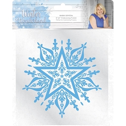 Crafter's Companion - Winter Wonderland Collection by Sara Davies - 6x6 Snow Crystal Embossing Folder