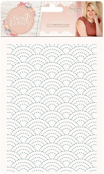 Crafter's Companion - Sew Lovely Collection by Sara Davies - 5x7 Sashiko Embossing Folder